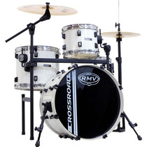Bateria Rmv Jazz Cross Road Cx12 B18 Branca Com Rack Fixo
