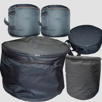 Capa Bag Para Bateria 5 Peças Almofadas. Acolchoada.