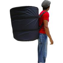 Bag Capa Surdo Samba 18 C/ Bolso Para Baquetas E Tripé Luxo