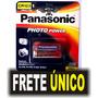 Pilha Cr123a 3v Sony / Panasonic Lithium C/01 Produto Novo!