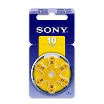 Bateria 10 Pr70 1,4v Sony Original Aparelho Auditivo 6 Unid