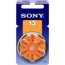 Bateria 13 Pr48 1,4v Sony Original Aparelho Auditivo 6 Unid