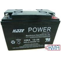 Bateria Selada 12v 26ah Haze Power 3 Anos - Hsc12-26