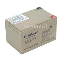 Bateria Selada First 12v 12ah Ciclo Profundo 3 Anos Fp12120d