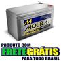 Bateria Moura 12v X 7a P/ Nobreack/alarme/cerca Frete Grátis