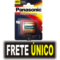 Cartela Bateria Pilha 6v Crp2 Lithium Photo Power Panasonic!