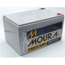 Bateria Moura 12v 12ah Vrla P/ Nobreak, Alarme, Bike Scooter