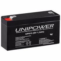Bateria Selada 6v 1,3ah Unipower - Up613 Alarme Segurança