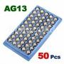 50 Baterias Ag13/ G13/ Lr44/ G13a; Frete Apenas 10r$ Confira