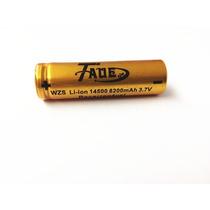 Bateria 3.7v Li-ion 14500 8200mah Recarregavel
