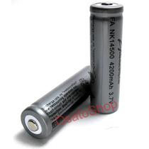 Bateria 14500 3,7v Li-ion 4200mah Pilha Aa - Recarregável