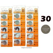 Bateria Lithium Cr2025 3v Cartela Com 30 Unidades Placa Mãe