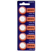 Cartela C/ 5 Baterias Botão Sony Original 3v Cr1616