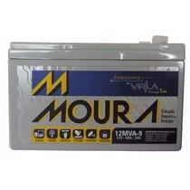 Bateria 12v9a Moura Para Nobreak, Alarme, Bike Elétrica