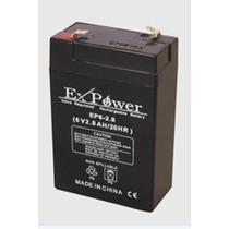 Bateria Selada 6v 2,8a No-break Alarme Cerca Elétrica Etc