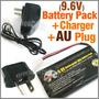 Bateria Pilha Recarregável Ni-cd 9.6v 1200mah + Carregador
