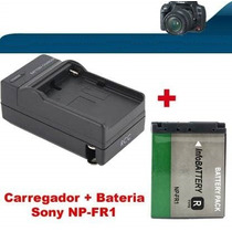 Bateria + Carregador Sony Np-fr1 Dsc-p200 T30 T50 V3 G1