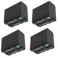 4 Baterias Np-f970 Led Cn160 Longa Duração Pd170 Nx5 Npf970