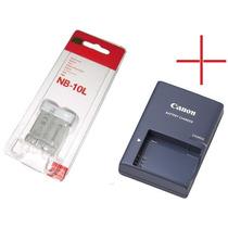 Bateria Canon Nb-10l Original + Carregador Cb-2lce Sx50 G15