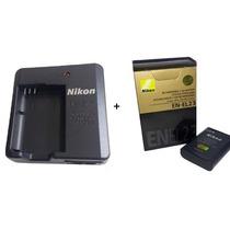 Bateria Nikon En-el23 Original + Carregador Mh-67p