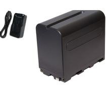 Bateria Np-f970 P Iluminador De Led Cn160 Cn126 + Carregador
