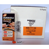 Bateria Duracell 13 Aparelho Auditivo,cartela C/ 6 ,barato