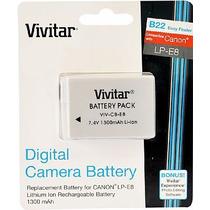 Bateria Vivitar Lp-e8 P/ Canon T2i T3i T4i T5i 550d 1300mah