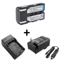 Bateria Sb-lsm80 + Carregador P/ Samsung Sc-d364 Sc-d375