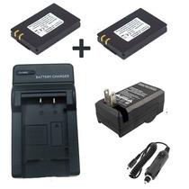 Kit 2 Baterias Ia-bp80w + 1 Carregador P/ Samsung D383 Dx103