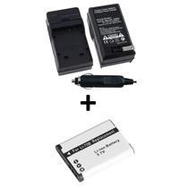 Kit Bateria Li-70b + Carregador P/ Câmera Olympus X-940 X990