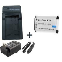 Kit Bateria Np-bx1 + Carregador P/ Sony Dsc-rx100 Dsc-rx1