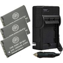 Kit 3 Baterias Np-bx1 + Carregador Bx1 Sony Dsc-rx100