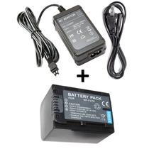 Kit Bateria Np-fv70 + Fonte Ac-l200 P/ Sony Hdr-pj380 Pj390