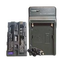 Kit Bateria Np-f970 + Carregador Filmadora Sony Pd-170