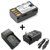 Kit Bateria Bn-vf808u + Carregador P/ Jvc Gz-mg120 Gz-mg130