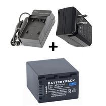 Bateria Np-fv100 + Carregador P/ Iluminador Led Pro Hd-160