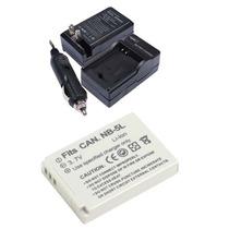 Kit Bateria Nb-5l + Carregador Para Canon Sx200 Sx210 Sx230