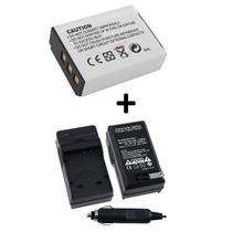 Kit Bateria Np-85 + Carregador P/ Fuji Sl300 Sl305 Sl240
