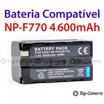 Bateria P/ Led Np-f770 ( F750 F770 Npf770 Npf750) 4400mah