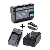 Kit Bateria En-el15 + Carregador Para Nikon Slr D7000 D7100