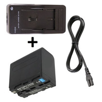 Kit Bateria Np-f960 + Carregador P/ Sony Pd170 Ccd-trv16