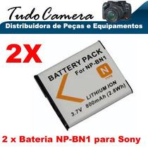 2x Bateria Np-bn1 Sony Dsc-t99 T110 W310 W320 W330 W350 W380