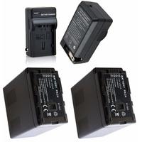2 Baterias Vw-vbg6 + Um Carregador P/ Panasonic Ag-ac160 Ac7