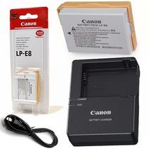 Bateria Canon Lp-e8 Original + Carregador Lc-e8c T4i T5i T6i