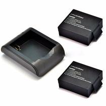 2 Bateria 1 Recarregador P/ Sports Cam Sj4000 E Similares