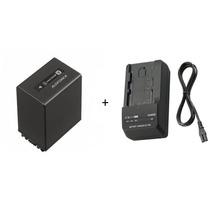 Kit Bateria Sony Np-fv100 Original + Carregador Sony Bc-trv
