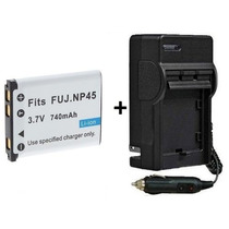 Kit Carregador + Bateria Np-45 Fujifilm J250 Jx200 Np45a