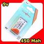 Bateria 9v Sony Recarregável Sony 450mah Alta Duração