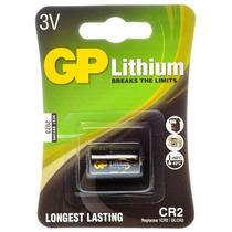 Cartela C/1 Bateria Pilha 3v Cr2 Gp Lithium Longest Lasting