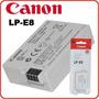 Bateria Original Lp-e8 Canon Selo Holográfico, Frt Gratis Sp
